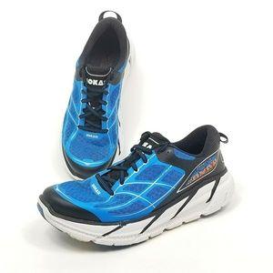 Hoka One One Clifton 2 Blue Running Shoes Mens